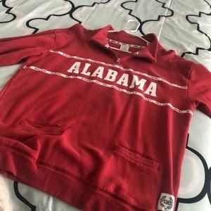 VS PINK Collegiate Alabama Quarter Zip Sweatshirt